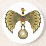 Golden Bird Drink Coaster
