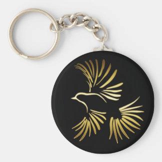 GOLDEN BIRD KEYCHAINS