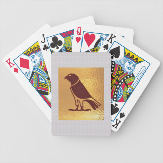 Golden BIRD of PREY Eagle Hawk Owl Graphic Art Bicycle Playing Cards
