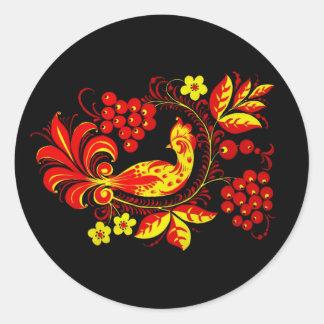 Golden Bird Round Sticker