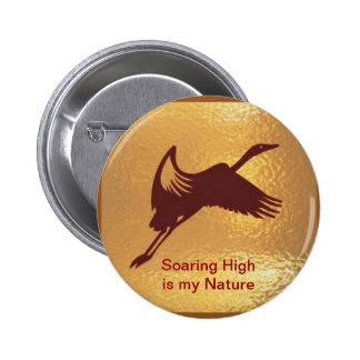 Golden Bird - Soaring High is my nature Button