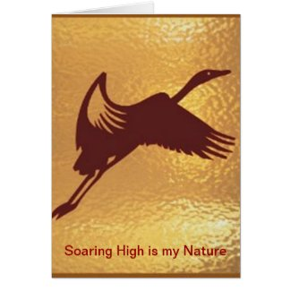 Golden Bird - Soaring High is my nature Greeting Cards