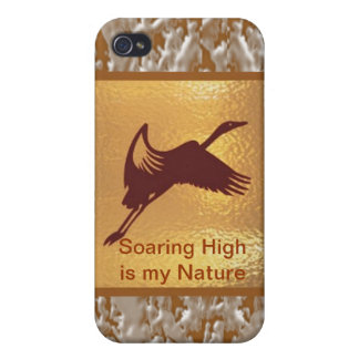 Golden Bird - Soaring High is my nature iPhone 4 Covers