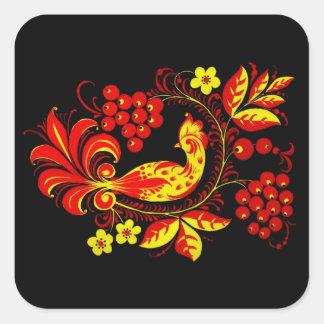 Golden Bird Square Sticker