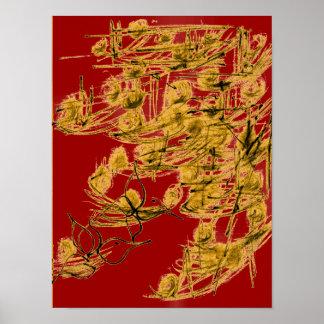 Golden Birds Poster