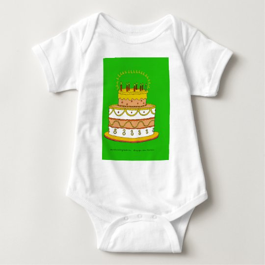 Golden Birthday Cake Baby Bodysuit