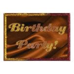 "Golden Birthday Party Invitation 5"" X 7"" Invitation Card"