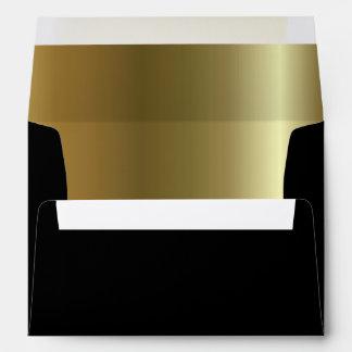 Golden Black A7 Envelope