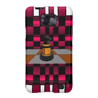 Golden Black Dragon Knight Chess Design 3D Samsung Galaxy S2 Case