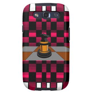 Golden Black Dragon Knight Chess Design 3D Samsung Galaxy SIII Covers