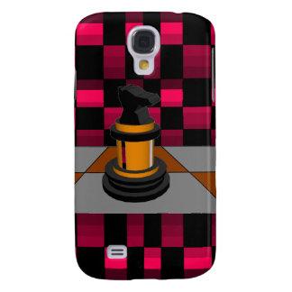 Golden Black Dragon Knight Chess Design 3D Samsung Galaxy S4 Cases