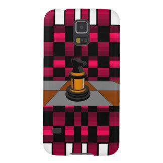 Golden Black Dragon Knight Chess Design 3D Galaxy S5 Cases