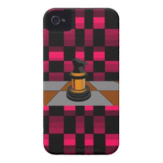 Golden Black Dragon Knight Chess Design 3D iPhone 4 Case