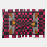 Golden Black Dragon Knight Chess Design 3D Hand Towels