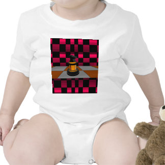 Golden Black Dragon Knight Chess Design 3D Baby Bodysuits