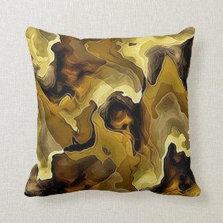 Golden Blend Throw Pillow
