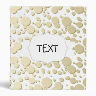 Golden Blobs, Splatters Pattern, Elegant, Stylish Binder
