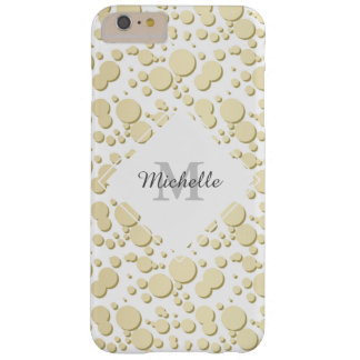 Golden Blobs, Splatters Pattern, Elegant, Stylish Barely There iPhone 6 Plus Case