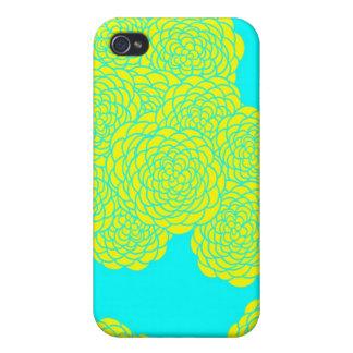 Golden bloom (teal) I phone case