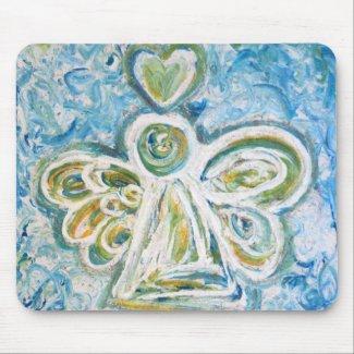 Golden Blue Angel Mousepad