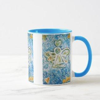 Golden Blue Angel Mug