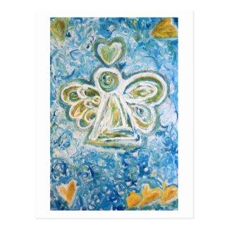 Golden Blue Angel Postcard