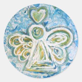 Golden Blue Angel Sticker