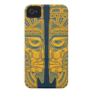 Golden Blue Aztec Twins iPhone 4 Case-Mate Case