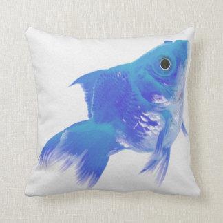 Golden Blue Fish Pillow