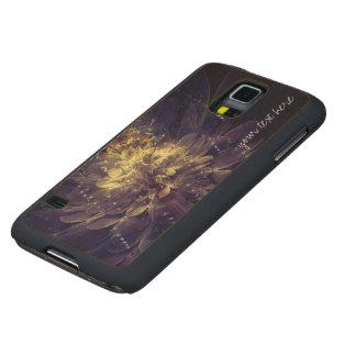 Golden Blue Flower Custom Google Nexus 5 Case