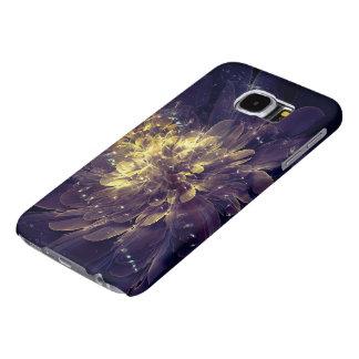 Golden Blue Flower   Samsung Galaxy S6/S5 Cases