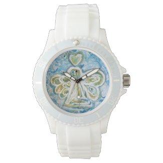 Golden Blue Guardian Angel Custom Watch Design