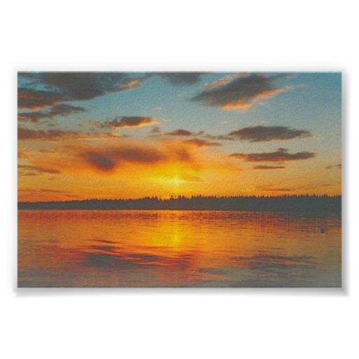 Golden Blue Sunset Posters