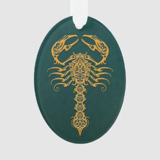 Golden Blue Tribal Scorpion