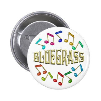 GOLDEN BLUEGRASS PINBACK BUTTON