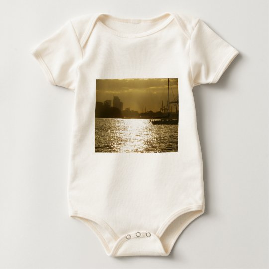 Golden Boat Light Baby Bodysuit