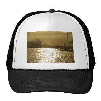 Golden Boat Light Trucker Hat