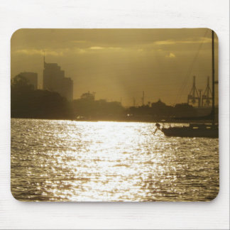 Golden Boat Light Mouse Pad