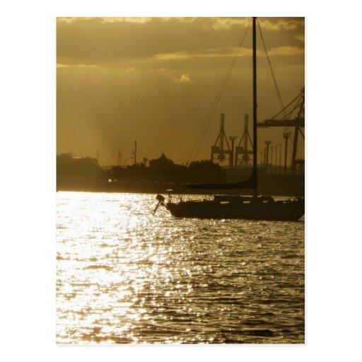 Golden Boat Light Post Cards