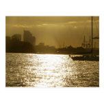 Golden Boat Light Postcard