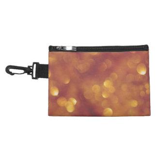 Golden Bokeh Clip On Accessory Bag