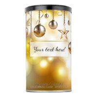 Golden Bokeh Lights, Stars & Baubles | Christmas Hot Chocolate Drink Mix