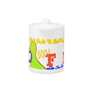Golden Boo! Girly TGIF Thanks God Its Friday Hakun Teapot