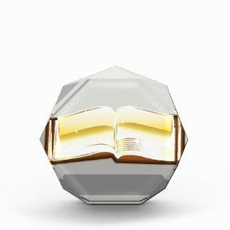 Golden book bible magic light shining glossy award