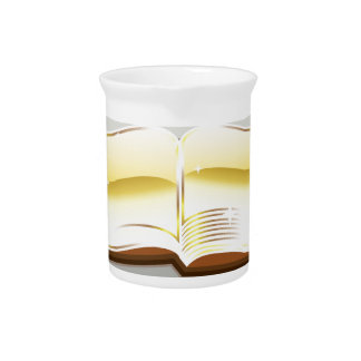 Golden book bible magic light shining glossy drink pitchers