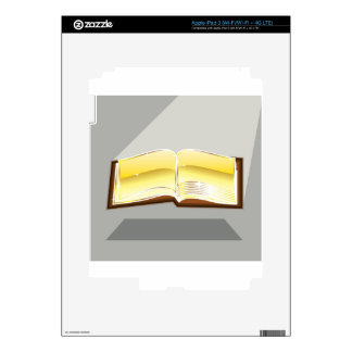 Golden book bible magic light shining glossy iPad 3 decals