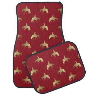 Golden/Bordeaux Pleasure Horses Car Mat