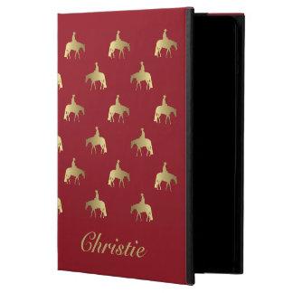 Golden/Bordeaux Pleasure Horses iPad Air Case