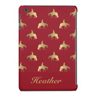 Golden/Bordeaux Pleasure Horses iPad Mini Covers