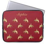 Golden/Bordeaux Pleasure Horses Laptop Computer Sleeves